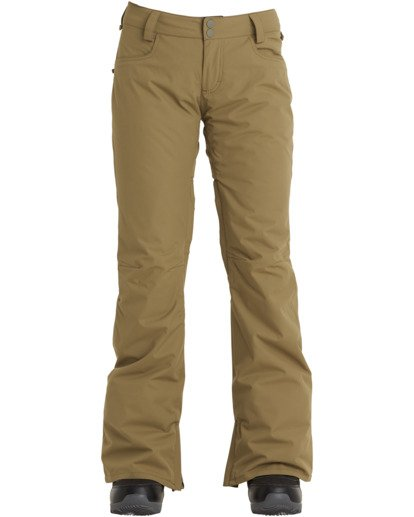 6 Women's Terry Snow Pants Green JSNP3BTE Billabong
