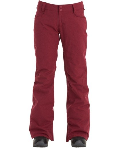 3 Women's Terry Snow Pants Red JSNP3BTE Billabong