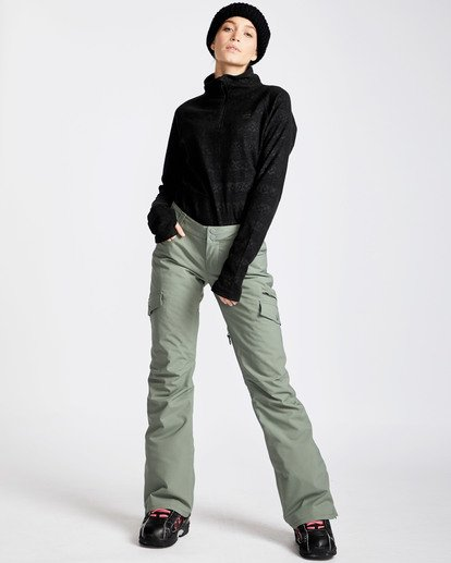 4 Women's Nela Slim Fit Outerwear Pants Green JSNPQNEL Billabong