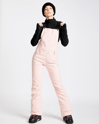 10 Women's Riva Outerwear Bib Pants Pink JSNPQRIV Billabong