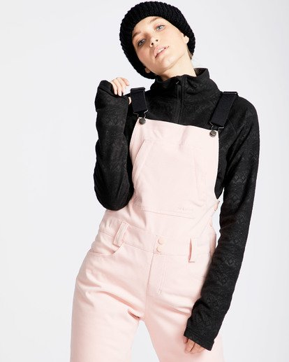 12 Women's Riva Outerwear Bib Pants Pink JSNPQRIV Billabong