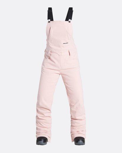 4 Women's Riva Outerwear Bib Pants Pink JSNPQRIV Billabong