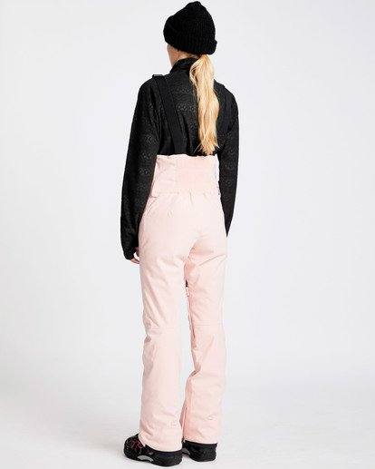 2 Women's Riva Outerwear Bib Pants Pink JSNPQRIV Billabong