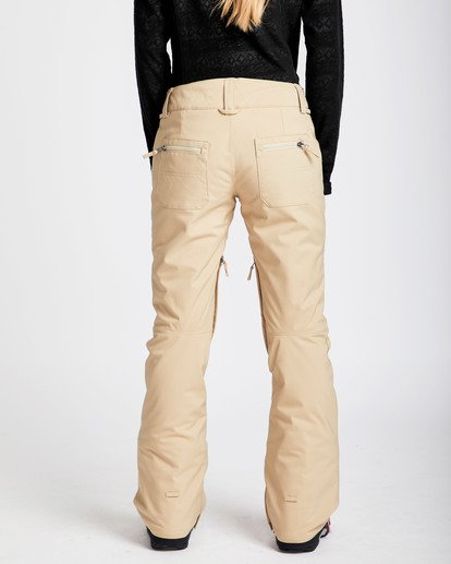 3 Women's Terry Slim Fit Outerwear Pants Beige JSNPQTER Billabong