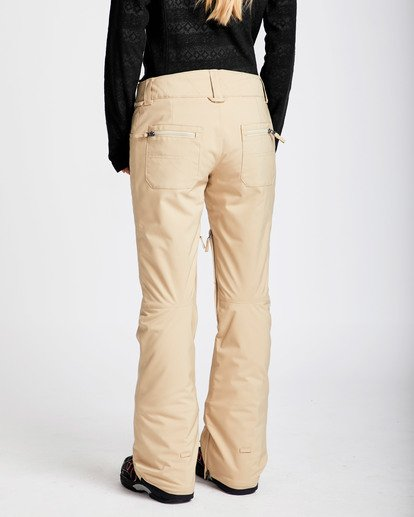 2 Women's Terry Slim Fit Outerwear Pants Beige JSNPQTER Billabong