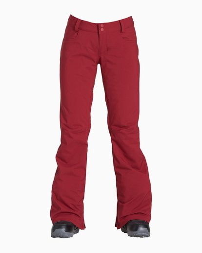 2 Women's Terry Snow Pant Red JSNPVBTE Billabong