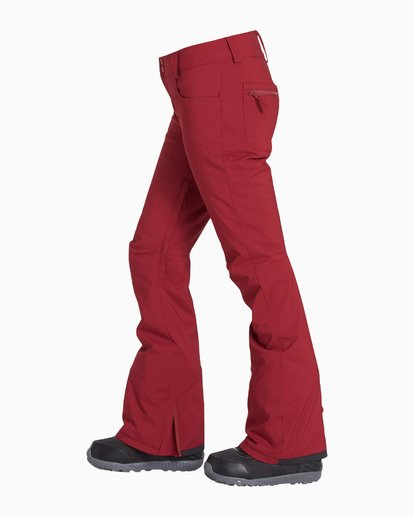 3 Women's Terry Snow Pant Red JSNPVBTE Billabong