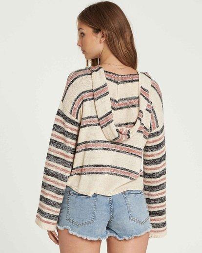 2 Baja Beach Hooded Sweater Beige JV01QBBA Billabong