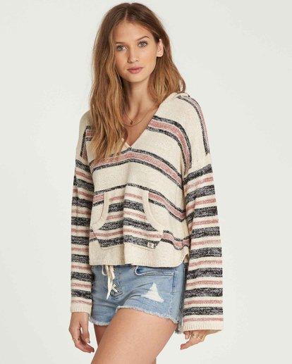 1 Baja Beach Hooded Sweater Beige JV01QBBA Billabong