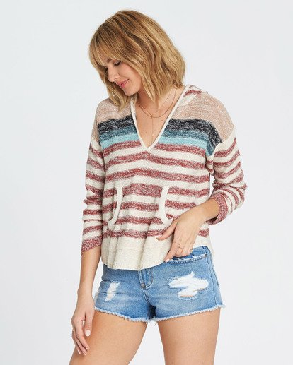 1 Baja Beach Hooded Sweater Red JV01QBBA Billabong