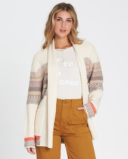 0 We Wrapping Wrap Cardigan White JV01SBWE Billabong