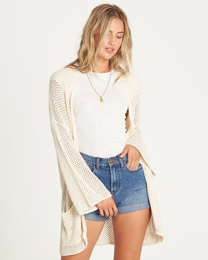 1 Beyond The Beach Cardigan White JV01UBBE Billabong