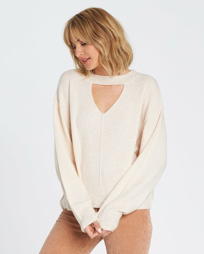2 Without A Crew Sweater Beige JV02SBWI Billabong