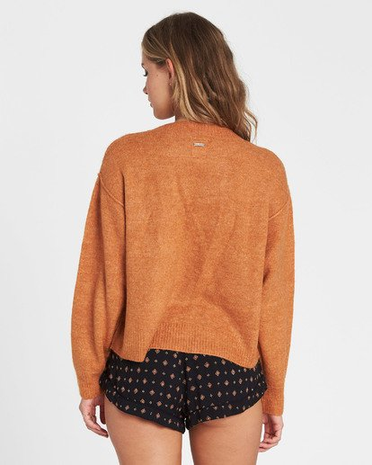 2 Without A Crew Sweater Brown JV02SBWI Billabong