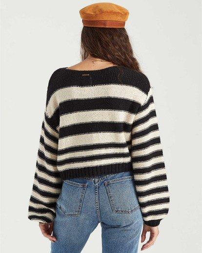 1 Seeing Stripes Sweater Black JV033BSE Billabong