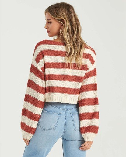 1 Seeing Stripes Sweater Red JV033BSE Billabong