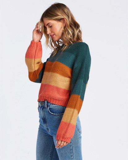 2 Seeing Stripes Sweater Green JV033BSE Billabong