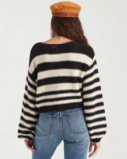 4 Seeing Stripes Sweater Black JV033BSE Billabong