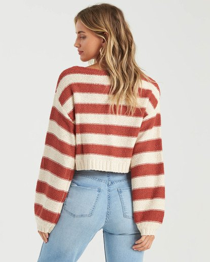 5 Seeing Stripes Sweater Red JV033BSE Billabong