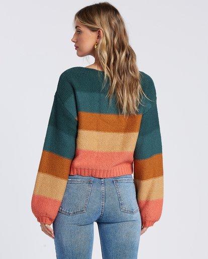 6 Seeing Stripes Sweater Green JV033BSE Billabong