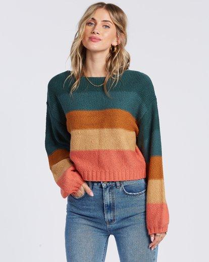 4 Seeing Stripes Sweater Green JV033BSE Billabong
