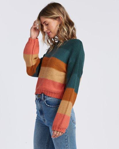 5 Seeing Stripes Sweater Green JV033BSE Billabong