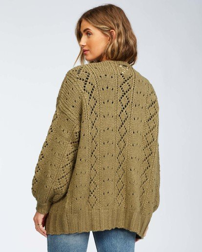 6 Blissed Out Sweater Green JV03WBBL Billabong