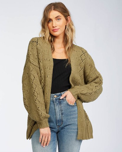 4 Blissed Out Sweater Green JV03WBBL Billabong