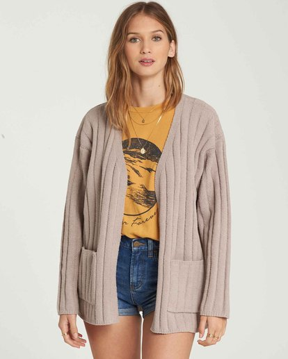 0 Just Relax Chenille Cardigan Brown JV05QBJU Billabong