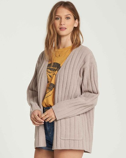 1 Just Relax Chenille Cardigan Brown JV05QBJU Billabong