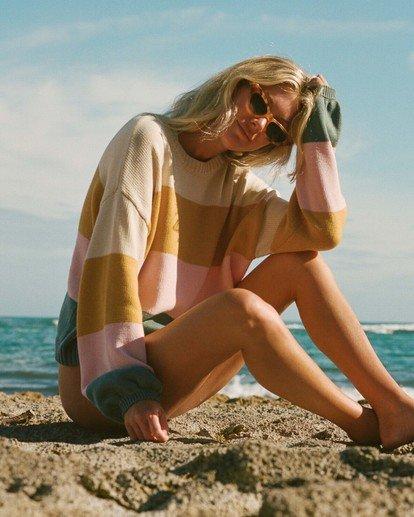 0 Salty Blonde Day Drifter Sweater Grey JV063BDA Billabong