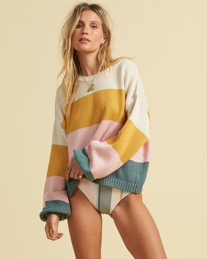 1 Salty Blonde Day Drifter Sweater Grey JV063BDA Billabong