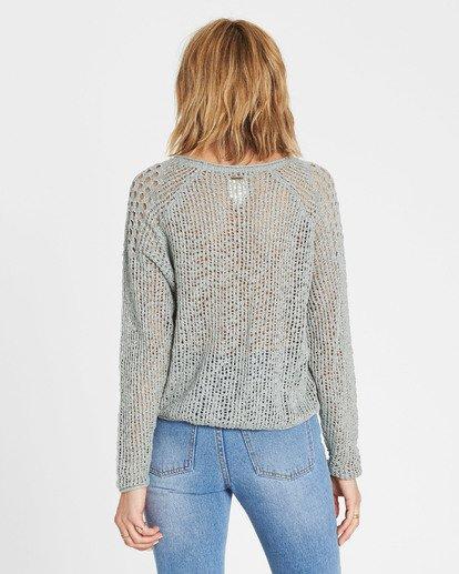 2 Sea Ya Soon Open Knit Sweater Blue JV06PBSE Billabong
