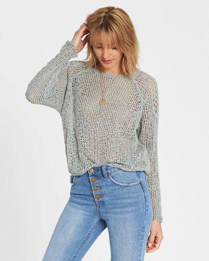 1 Sea Ya Soon Open Knit Sweater Blue JV06PBSE Billabong