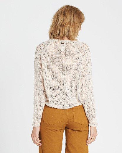 2 Sea Ya Soon Open Knit Sweater White JV06PBSE Billabong