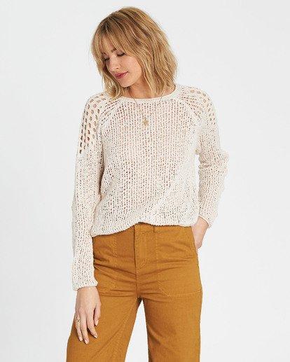 1 Sea Ya Soon Open Knit Sweater White JV06PBSE Billabong
