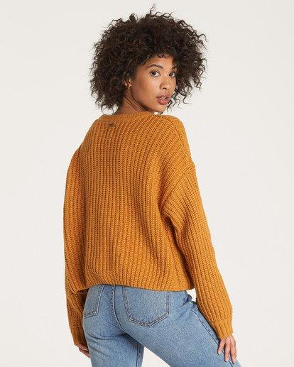 3 Cali Nights Sweater Yellow JV06WBCA Billabong