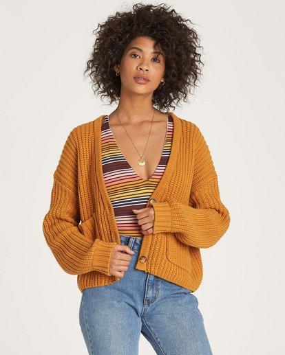 1 Cali Nights Sweater Yellow JV06WBCA Billabong