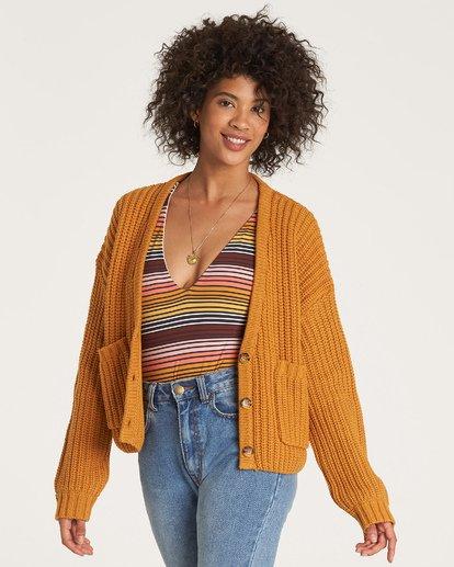 2 Cali Nights Sweater Yellow JV06WBCA Billabong