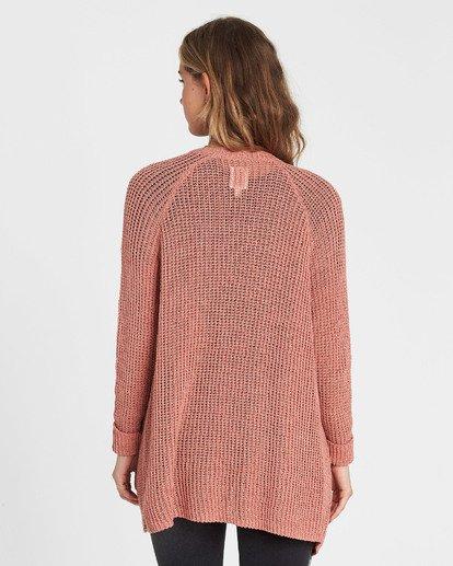 2 Laid Back Cardigan Sweater Red JV07PBLA Billabong