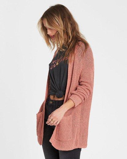 1 Laid Back Cardigan Sweater Red JV07PBLA Billabong