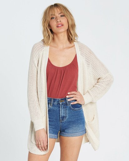 0 Laid Back Cardigan Sweater  JV07PBLA Billabong
