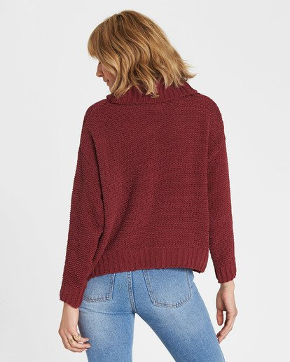 2 On A Roll Chenille Sweater Red JV07SBON Billabong