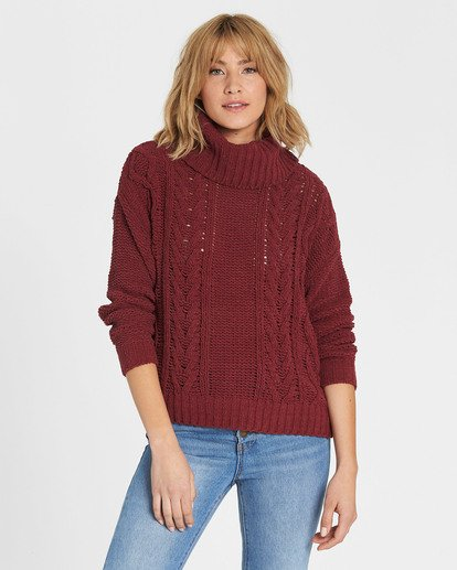0 On A Roll Chenille Sweater Red JV07SBON Billabong