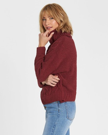 1 On A Roll Chenille Sweater Red JV07SBON Billabong