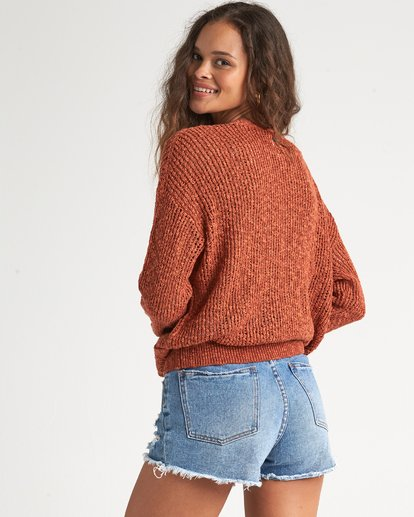 2 Sweet Bliss Sweater Red JV091BSW Billabong