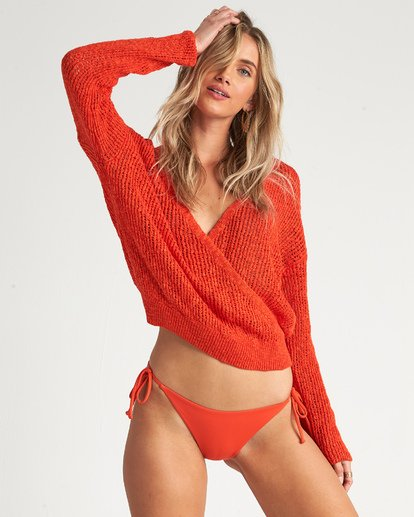 1 Sweet Bliss Sweater Orange JV091BSW Billabong
