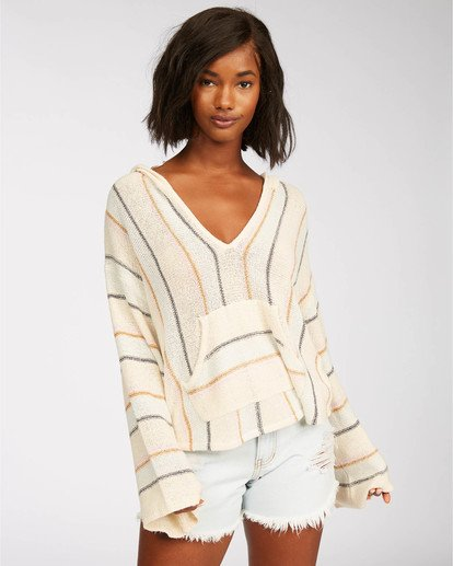 0 Baja Beach Sweater White JV101BBA Billabong
