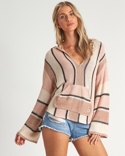 0 Baja Beach Sweater Orange JV101BBA Billabong