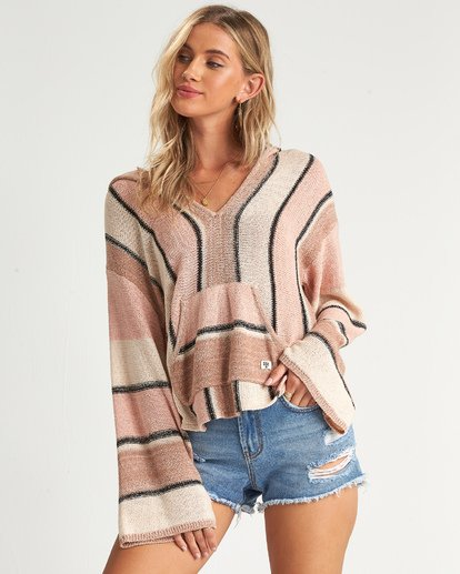 2 Baja Beach Sweater Orange JV101BBA Billabong